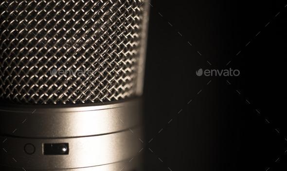 Professional large diaphragm studio voice recording microphone