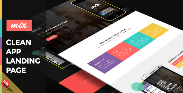 ThemeForest Responsive Bootstrap App Landing Page 9800403