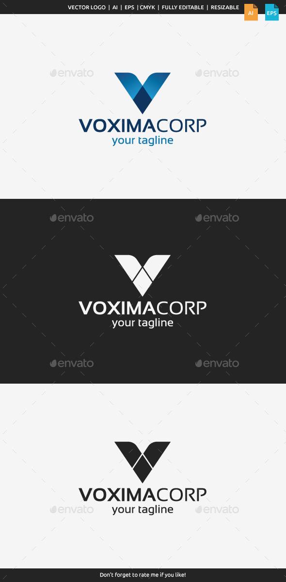 GraphicRiver Vaxima Logo Letter V 9873903