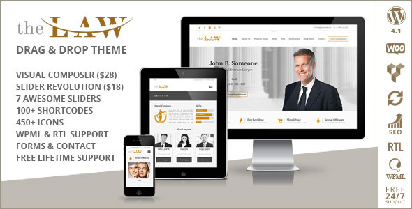 ThemeForest The Law Lawyer Legal Attorney Responsive WP Theme 9559609
