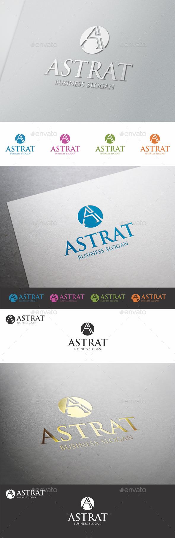GraphicRiver A Creative Logo Letter Astrat 9874346