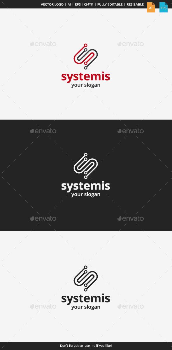 GraphicRiver Systemis Logo Letter S 9874379