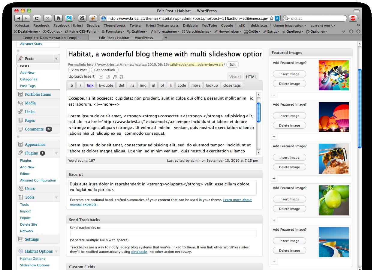 Habitat - Blog and Portfolio Theme