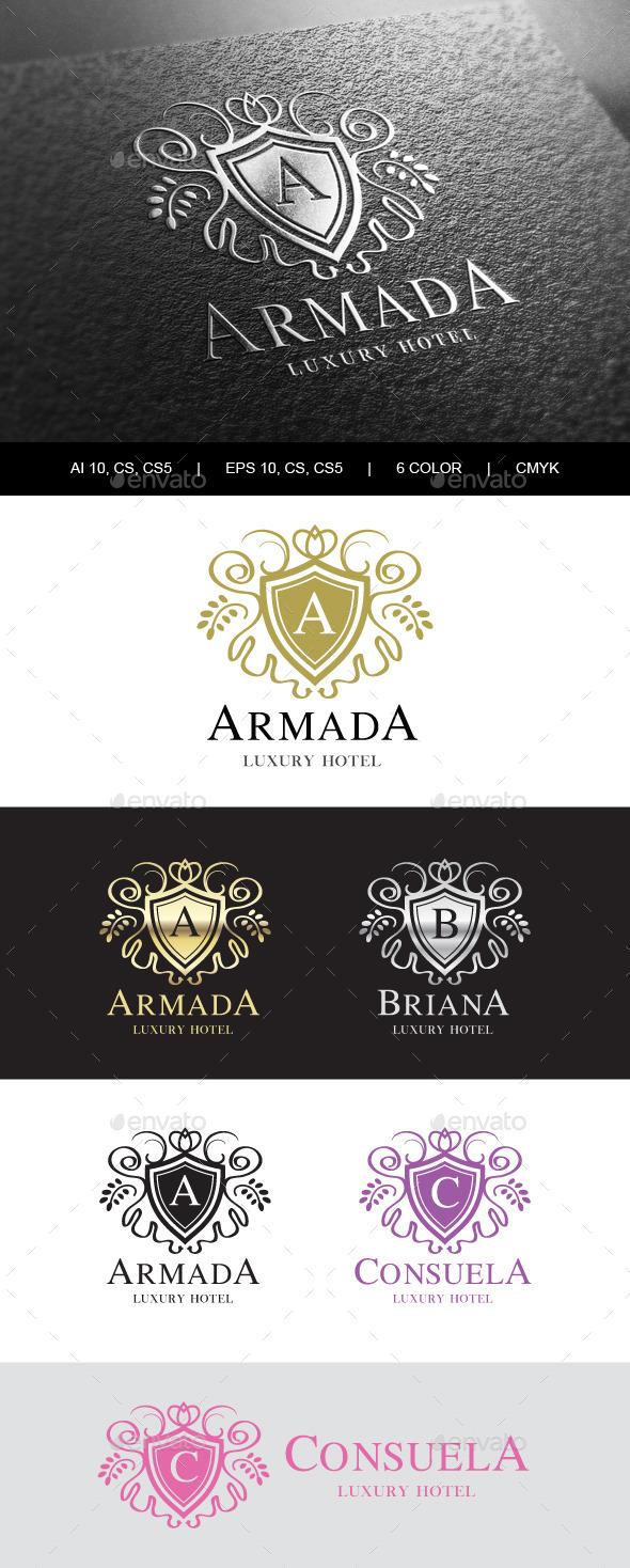 GraphicRiver Heraldic Royalty Logo 9874714