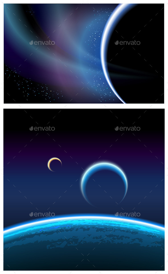 GraphicRiver Deep Space and Planets Pack 9874769