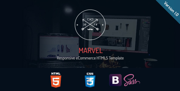 ThemeForest Marvel Responsive eCommerce HTML5 Template 9875726
