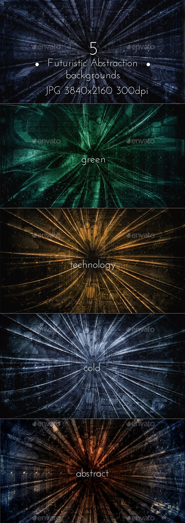 GraphicRiver Futuristic Abstraction Collection 9875810