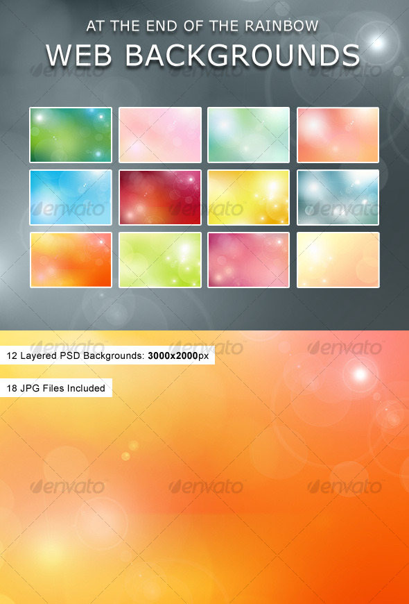 GraphicRiver At The End Of The Rainbow Web Backgrounds 125451