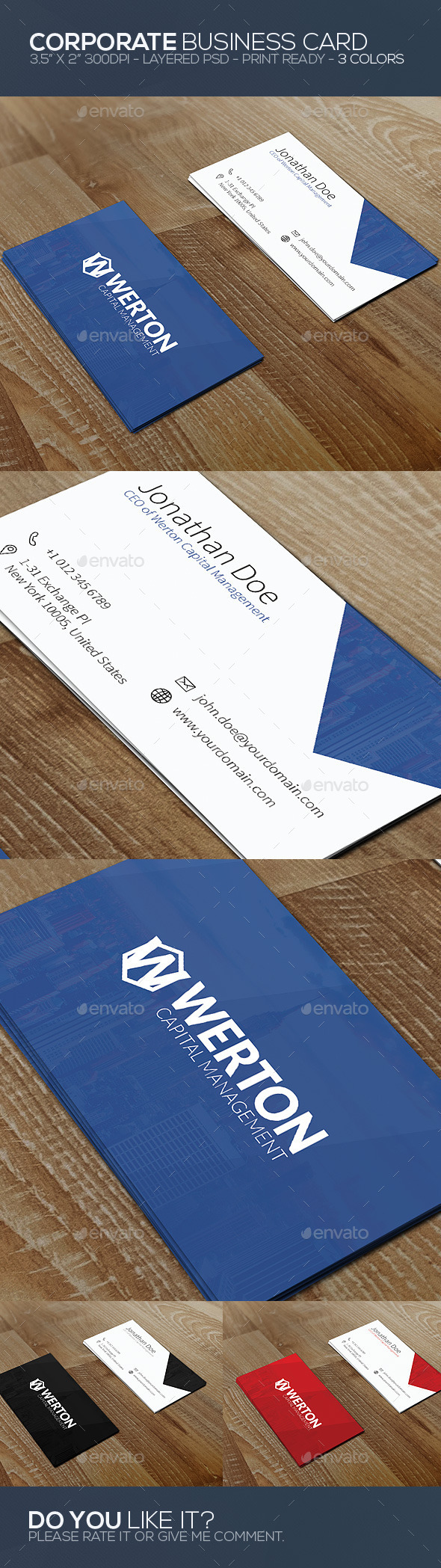 GraphicRiver Clean Business Card 9876425