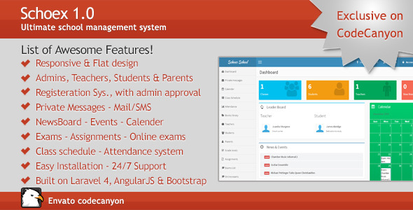 CodeCanyon Schoex Ultimate school management system 9797830