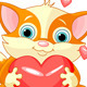 Valentines Kitten - GraphicRiver Item for Sale