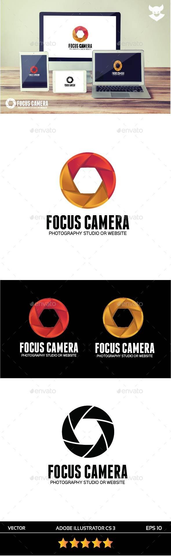 GraphicRiver Focus Camera Logo 9876724
