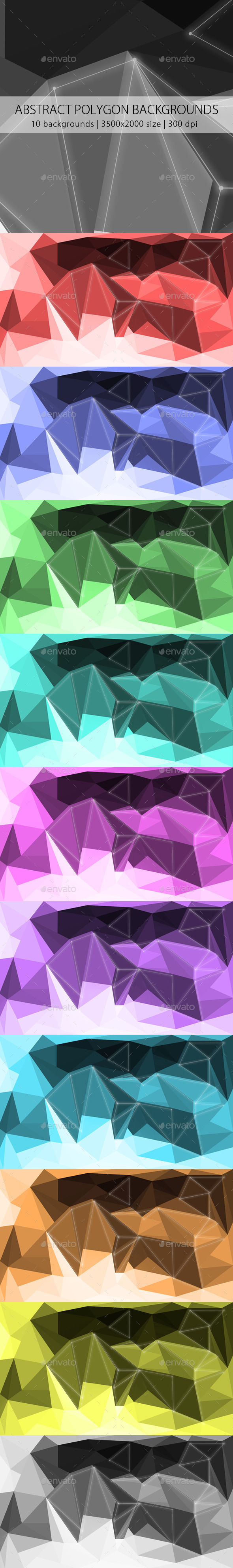 GraphicRiver Abstract Polygon Backgrounds 9876941