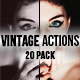 20 Vintage Inspired Photoshop Action Filters - GraphicRiver Item for Sale