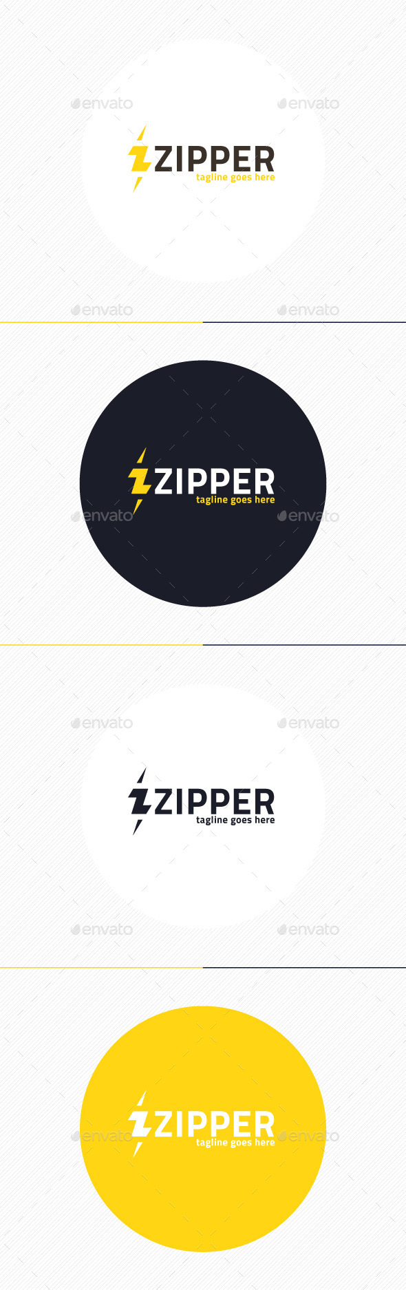 GraphicRiver Zipper Logo Letter Z 9877109