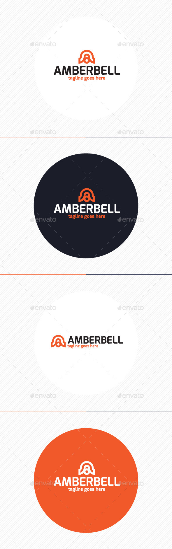 GraphicRiver Amber Bell Logo Letter A 9877164