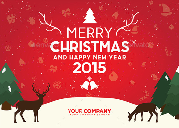 GraphicRiver Christmas Background with Vintage Typography 9877232