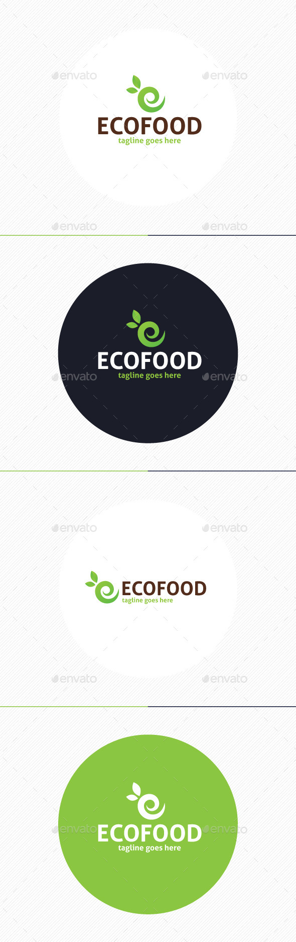 GraphicRiver Eco Food Logo Letter E 9877233