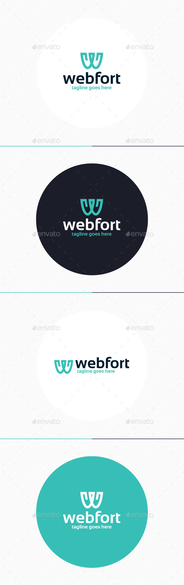 GraphicRiver Web Fort Logo Letter W 9877280