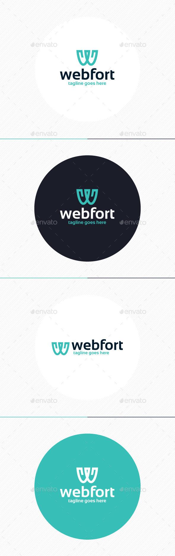 GraphicRiver Web Fort Logo Letter W 9877280