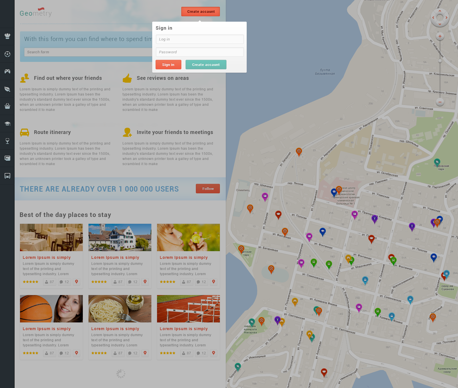GeoMetry – HTML Geolocation Template v2
