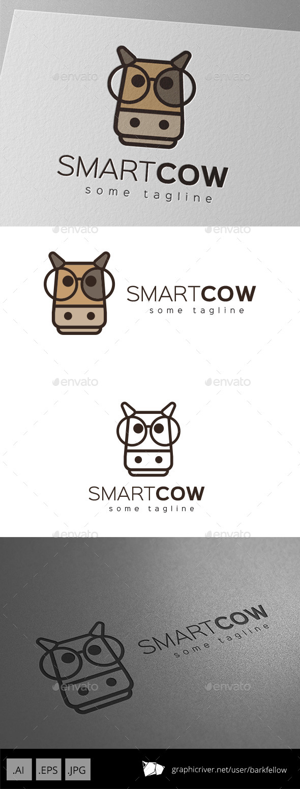 GraphicRiver Smart Cow Logo Design 9877652