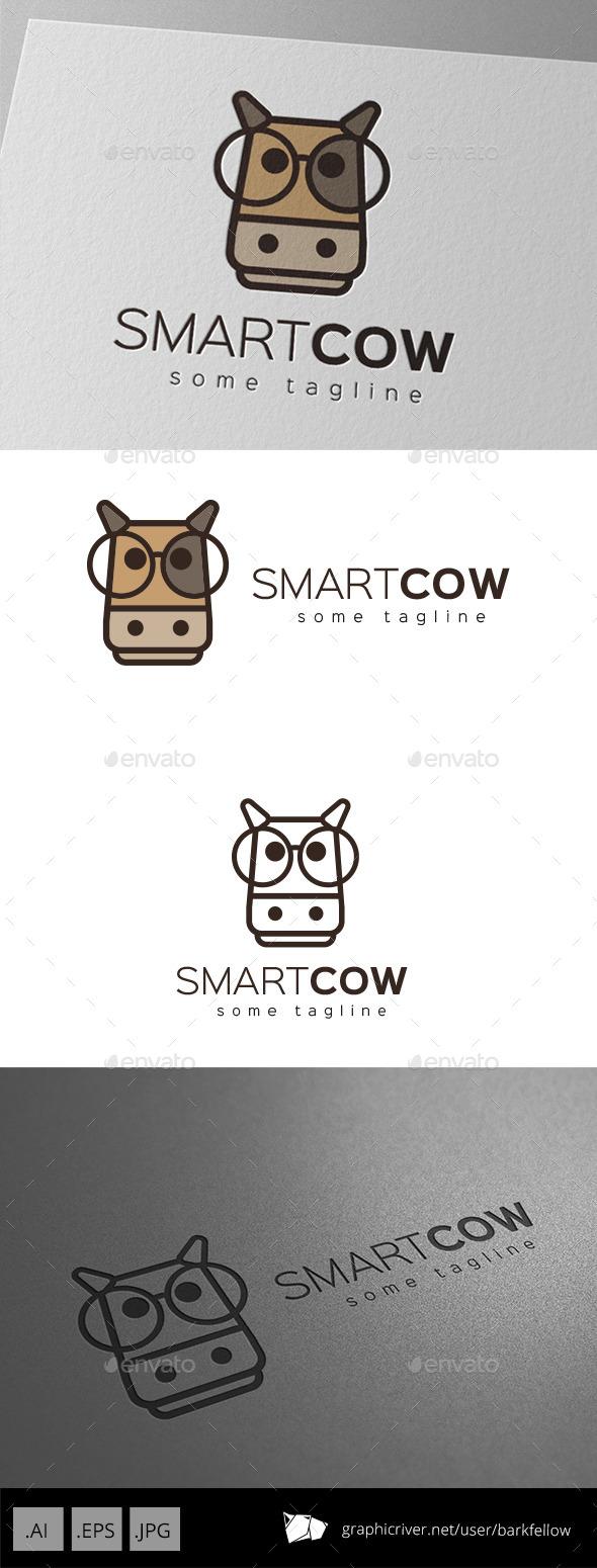 Smart Cow Logo Design