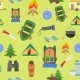 Seamless Pattern with Camping Items - GraphicRiver Item for Sale