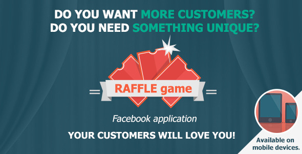 CodeCanyon RAFFLE game Promotional customizable FB app 9783239
