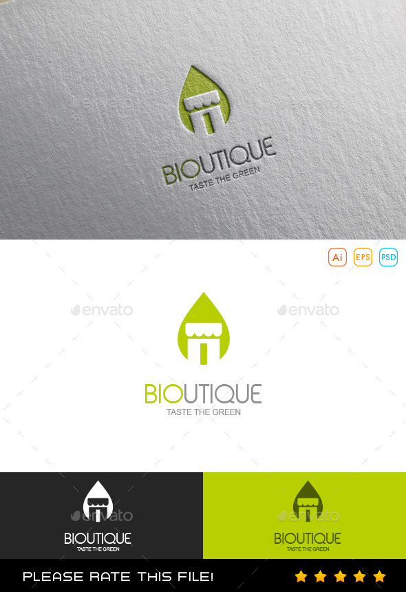 GraphicRiver Green Boutique Logo 9878002
