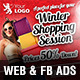 Winter Sale Campaign Web & Facebook Banners - GraphicRiver Item for Sale
