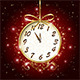 Clock on Red Background - GraphicRiver Item for Sale