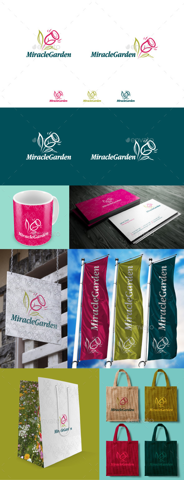 GraphicRiver Miracle Garden Logo 9878203