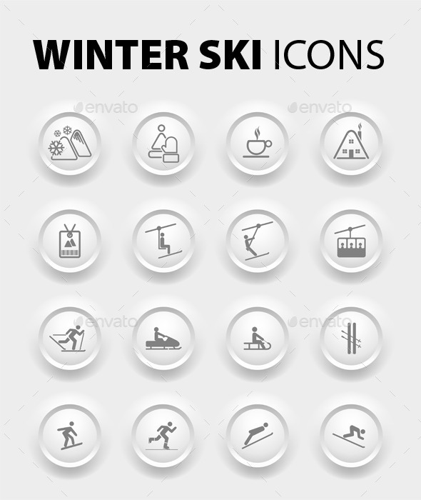 GraphicRiver Winter Icons 9878211