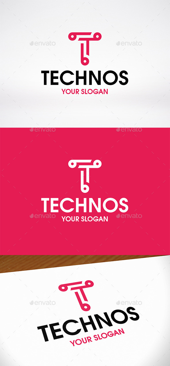 GraphicRiver Tech Letter T Logo Template 9878441