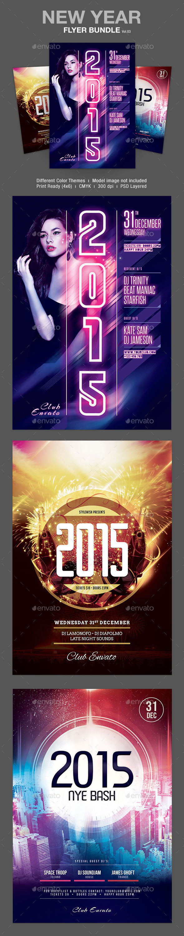 GraphicRiver New Year Flyer Bundle Vol.03 9878444