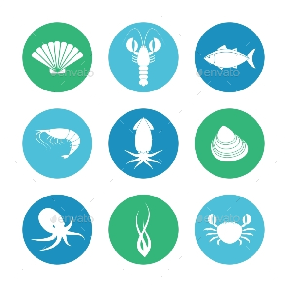 GraphicRiver Seafood Icons Set 9878500