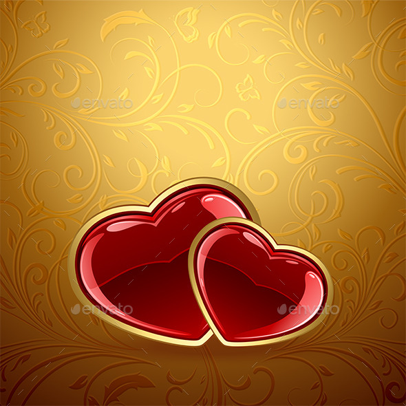 GraphicRiver Heart on Gold 9878523