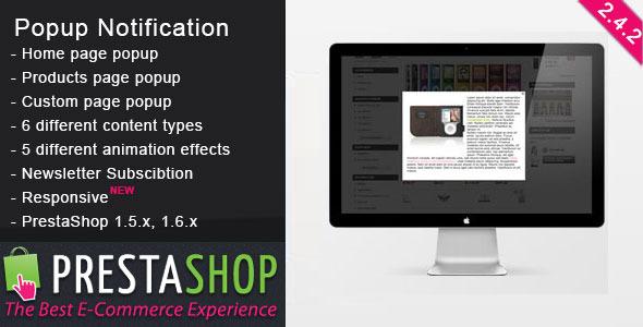 PrestaShop Popup Notification - CodeCanyon Item for Sale