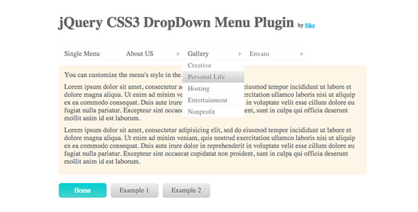 CodeCanyon jQuery CSS3 DropDown Menu Plugin 996815