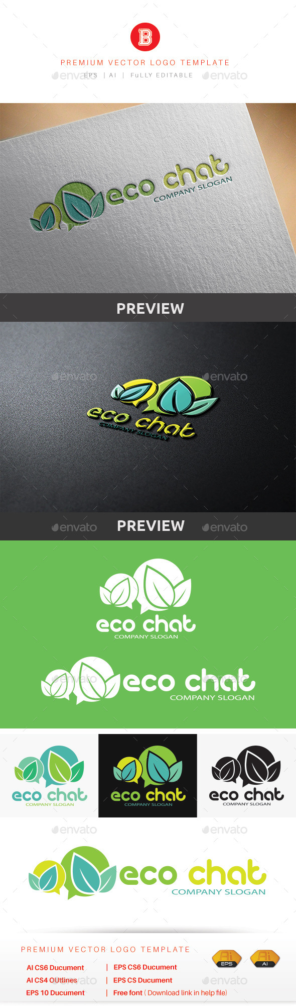 GraphicRiver Eco Chat 9878727