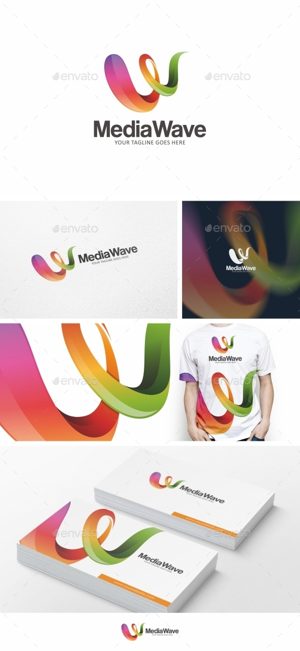 GraphicRiver Media Wave Logo Template Vol 01 9878991