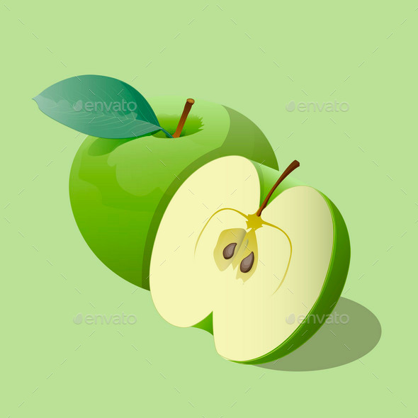 GraphicRiver Green Apples 9878992
