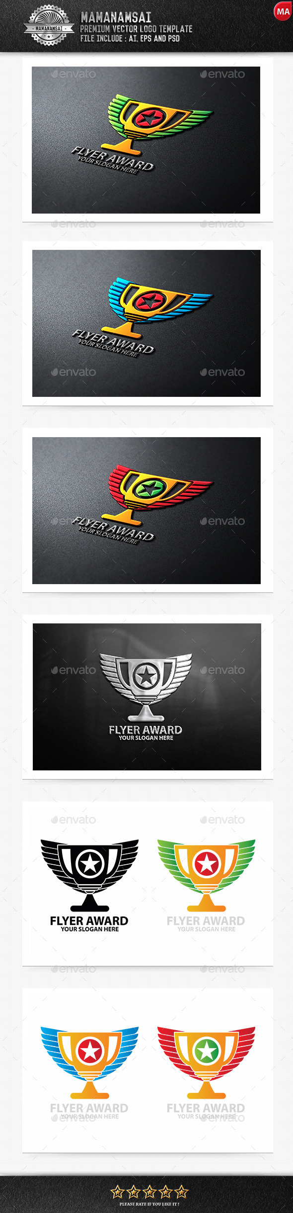 GraphicRiver Flyer Award Logo 9879028