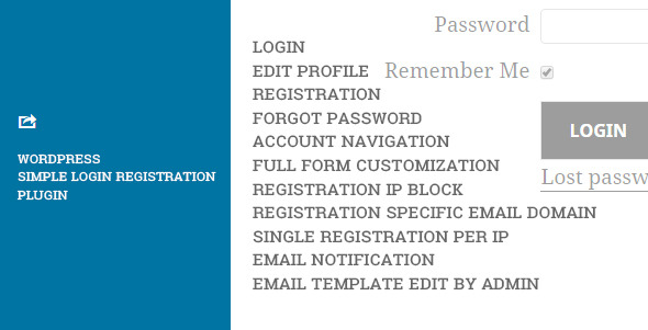 WP Simple Login Registration Plugin - CodeCanyon Item for Sale