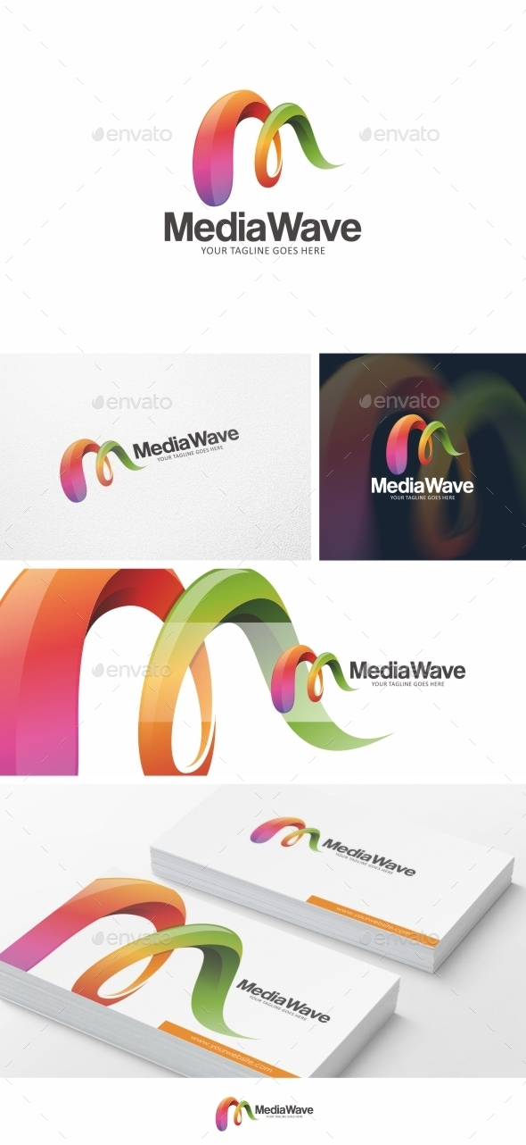 Media Wave Logo Template Vol 02