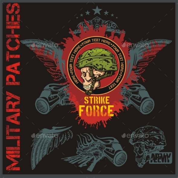 GraphicRiver Special Forces Patch Set 9879164