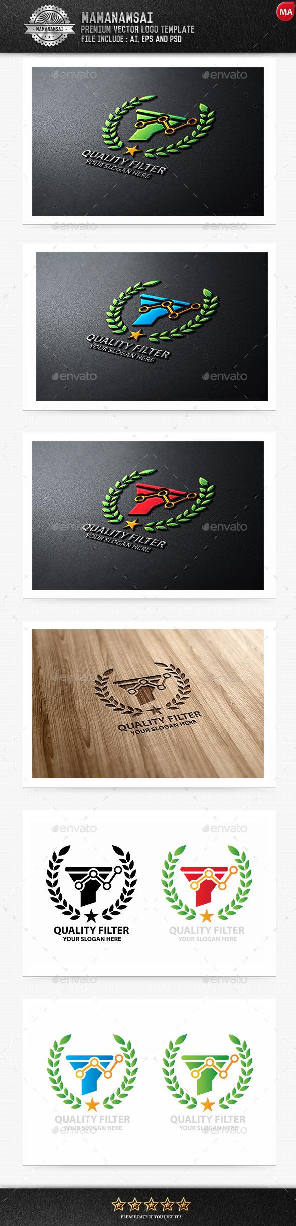 GraphicRiver Quality Filter Logo 9879543