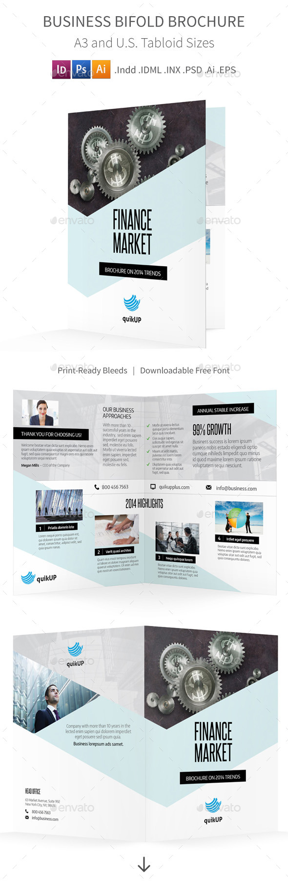 GraphicRiver Business Bifold Halffold Brochure 9879593