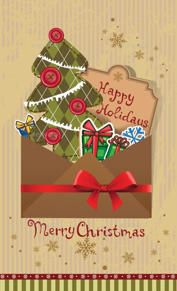 GraphicRiver Scrapbook Christmas Greeting Card 9879645